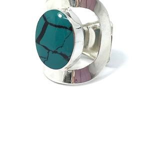 turquoise sterling silver boho ring