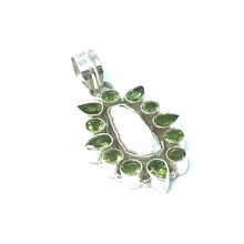 Load image into Gallery viewer, Peridot Biwa Pearl Pendant Sterling Silver - Stoned Hilda Discover the soul of Gemstones