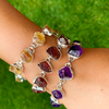 amethyst rough stone sterling silver gemstone bracelet bangle