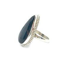 Load image into Gallery viewer, bloodstone gemstone silver ring
