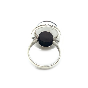 bloodstone gemstone silver ring