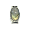 labradorite gemstone silver boho saddle ring