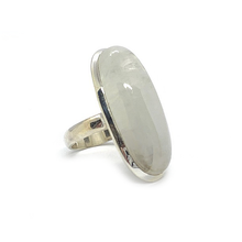 Load image into Gallery viewer, moonstone gemstone sterling silver bohemian style ring