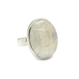 moonstone gemstone sterling silver bohemian style ring