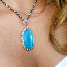 Load image into Gallery viewer, Chalcedony Stone Pendant Set In Sterling Silver - Stoned Hilda Discover the soul of Gemstones