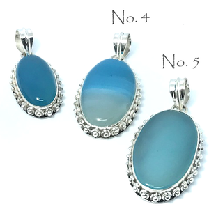 Chalcedony Stone Pendant Set In Sterling Silver - Stoned Hilda Discover the soul of Gemstones