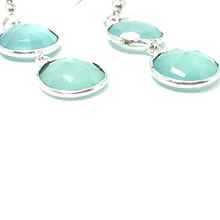 Load image into Gallery viewer, chalcedony gemstone earrings sterling silver