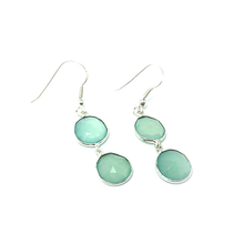 Load image into Gallery viewer, chalcedony earrings boho sterling silver