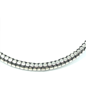 gypsy style choker silver necklace collar