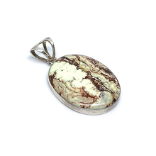 Load image into Gallery viewer, chrysophrase large oval sterling silver gemstone pendant