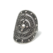 Load image into Gallery viewer, tribal silver boho ring