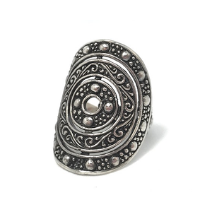 tribal silver boho ring