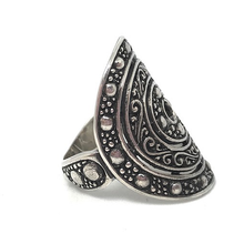 Load image into Gallery viewer, handmade statement silver boho ring