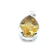 Load image into Gallery viewer, citrine teardrop silver pendant