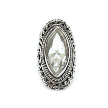 Load image into Gallery viewer, Clear Quartz Diamond Gypsy Ring