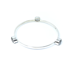 Clear Quartz Gemstone Bangle Sterling Silver - Stoned Hilda Discover the soul of Gemstones
