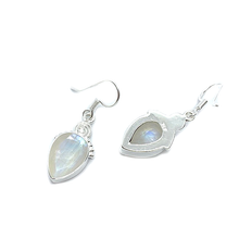 Load image into Gallery viewer, moonstone gemstone drop sterling silver earrings