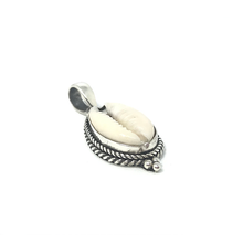 Load image into Gallery viewer, cowrie shell silver boho pendant