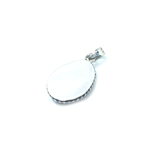 Cowrie Shell Boho Beach Sterling Silver Pendant - Stoned Hilda Discover the soul of Gemstones