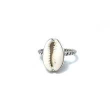 Load image into Gallery viewer, cowrie shell gypsy ring
