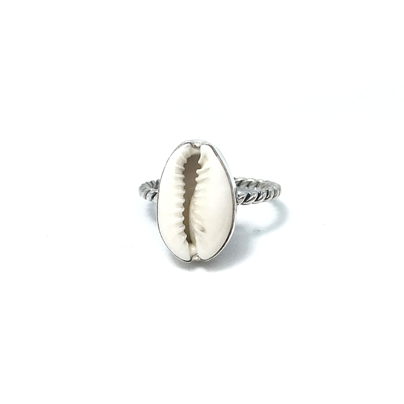 cowrie shell gypsy ring