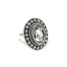 Load image into Gallery viewer, Clear Quartz Tribal Bohemian Ring