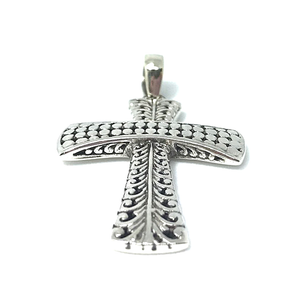 sterling silver tribal style boho pendant