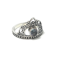 Load image into Gallery viewer, blue topaz sterling silver boho ring