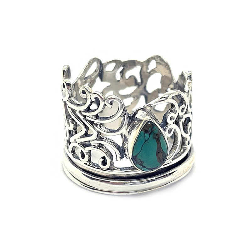 turquoise spinning ring sterling silver