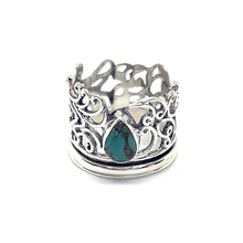 Load image into Gallery viewer, turquoise spinning ring sterling silver