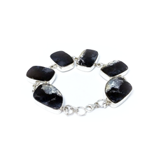 Load image into Gallery viewer, Dendrite-1 Agate Stone Bracelet Sterling Silver - Quirky Pieces