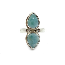 Load image into Gallery viewer, larimar sterling silver gemstone ring