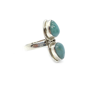 larimar sterling silver gemstone ring