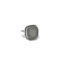 Load image into Gallery viewer, clear druzy tribal ring