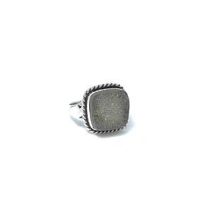 clear druzy tribal ring