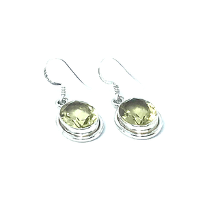 Lemon Quartz Oval Earrings Set In Sterling Silver - Stoned Hilda Discover the soul of Gemstones