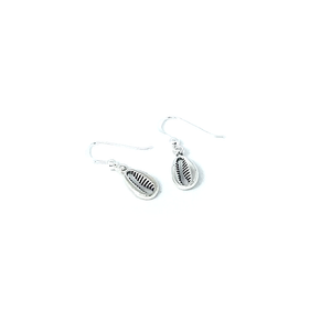 sterling silver cowrie drop earrings