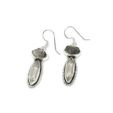 Load image into Gallery viewer, natural raw herkimer diamond drop earrings