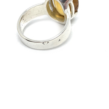 Load image into Gallery viewer, Citrine Large Silver Gemstone Ring