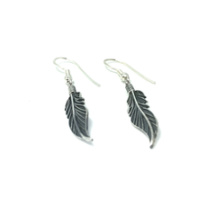 Load image into Gallery viewer, gypsy style feather boho earrings
