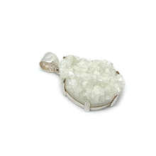 Load image into Gallery viewer, forest druzy silver gemstone pendant