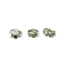 Load image into Gallery viewer, silver green turquoise gemstone ring