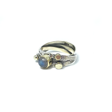 Load image into Gallery viewer, moonstone gemstone silver boho ring