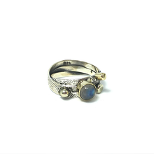 Load image into Gallery viewer, moonstone boho silver gold retro vintage ring