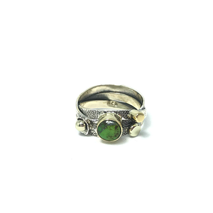 green turquoise ring sterling silver