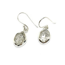 Load image into Gallery viewer, herkimer diamond sterling silver gemstone earrings