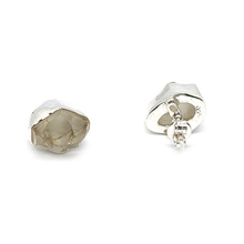 Load image into Gallery viewer, Herkimer Diamond Raw Silver Earrings
