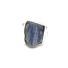 Load image into Gallery viewer, kyanite raw gemstone sterling silver bohemian style ring