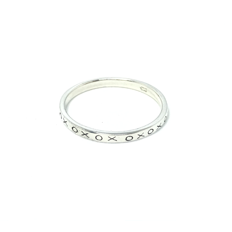 boho stacking kiss hug ring