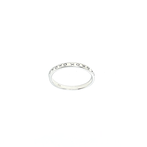 gyspy style ring sterling silver kisses and hugs